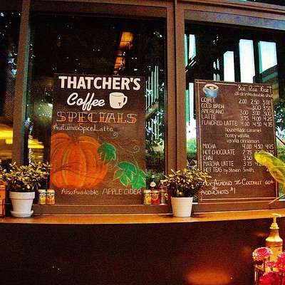 Thatcher's Coffee located in the front lobby