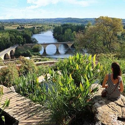 Vue sur la confluence de la Dordogne et de la Vézère
