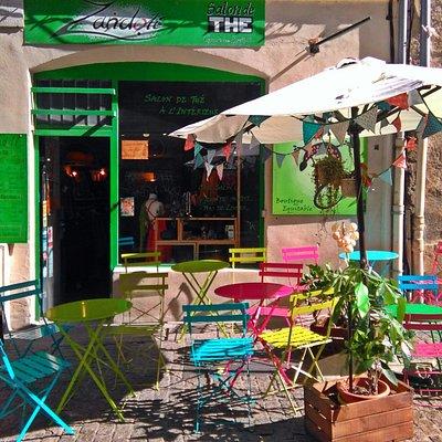 Terrasse Salon de Thé Bio Zandoli
