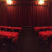 Dinner Parties for corporations, families.  seat up to 54 at tables and professional stage show,