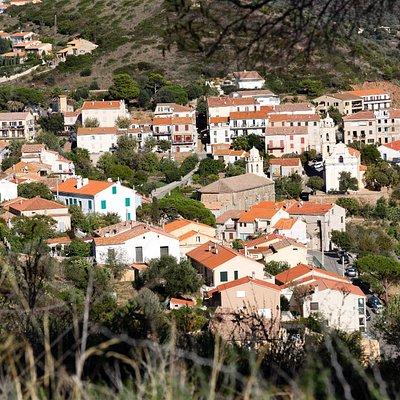 Cargèse depuis la tour Génoise d'Orchiu