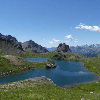 Lac de roburent à coté du col de Larche