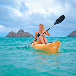 Paddling back from an adventure on the Islands!