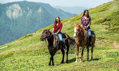 Конные прогулки на хребте Аибга