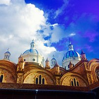 The three large blue domes is the symbol of the city of Cuenca!