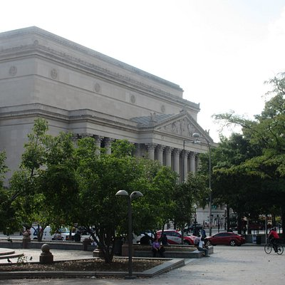 National Archives is just across the street