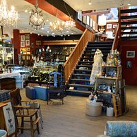 Beauty and color as soon as you walk in, antiques and vintage galore!