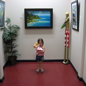 Young Visitor enjoying the artwork