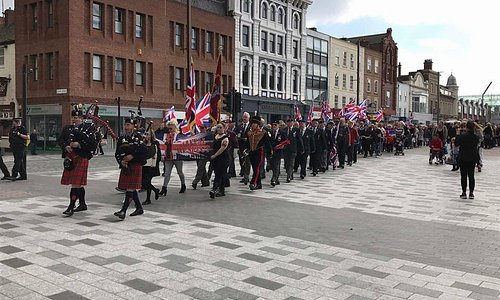 The Don War Memorial Bar March to show respect for all service personnel past and present.
