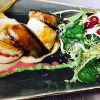 Foie gras / Jakobsmuschel / Selleriepüree