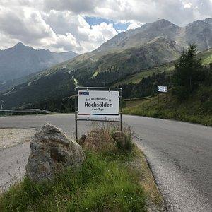 Fahrstraße von Sölden nach Hochsölden