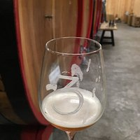 Tasting the Gueze at the end of the tour.