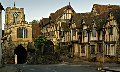Evening view of The Lord Leycester Hospital