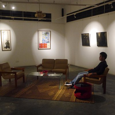Minimalistic design at the ground floor of SGFA