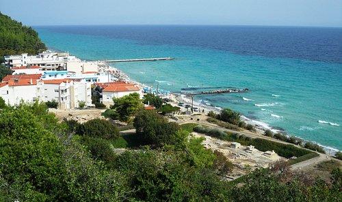 Site archéologique et plage