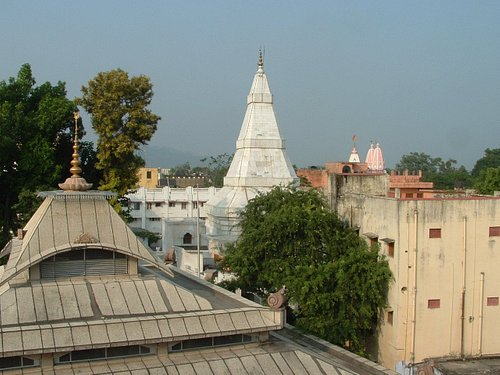 View of Anandamayi Ma's Samadhi from Anandamayi Ma International Centre Rooftop
