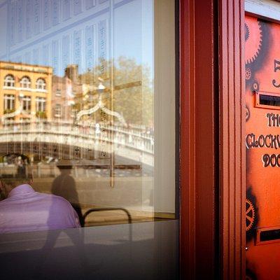 Our front door - just across the Ha'Penny bridge by Merchant's Arch