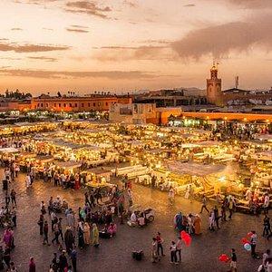 Jamaa lfna square in Marrakesh