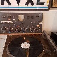 Record player used on radio station KVXL
