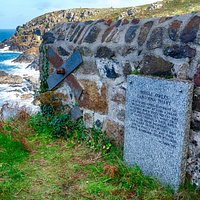 WHEAL OWLES CARDOGNA SHAFT - Memorial to 20 miners who drowned in 1983