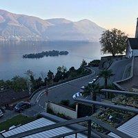 aussicht vom balkon im hotel Ronco