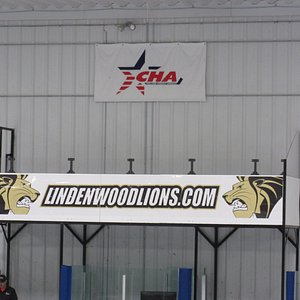 Lindenwood Ice Arena-CHA and Lindenwood Lions Signs
