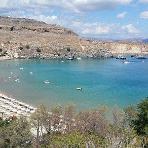 la plus grande plage de Lindos