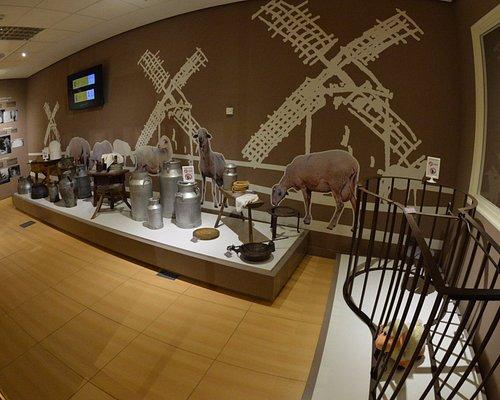Sala del proceso de la elaboración del Queso Manchego. Utensilios y enseres utilizados en el pas