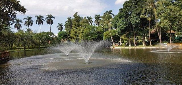 Preciosas las fuentes y sus jardines