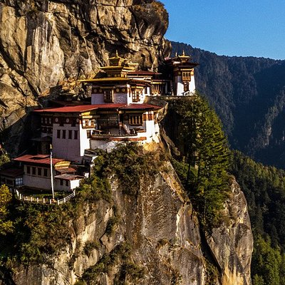 """The spectacular Taktshang Monastery """"Tigers Nest"""" at Paro"""
