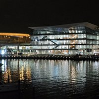 The Convention Centre from the Pyrmont Bridge, city end