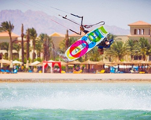 Best conditions all year round in Sharm Sheikh with riding area being flat shallow waist-deep la