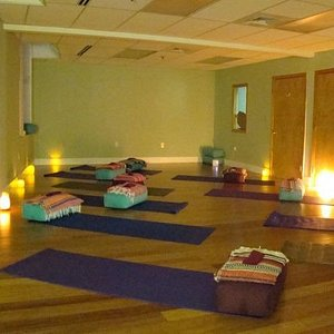 A relaxing and meditative space.