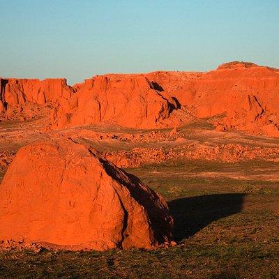 Bayanzag Red Flaming Cliffs Mongolia Gobi Desert
