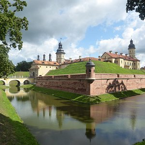 the castle and its moat