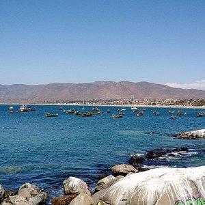Playa de Guanaqueros mirada desde la caleta de pescadores