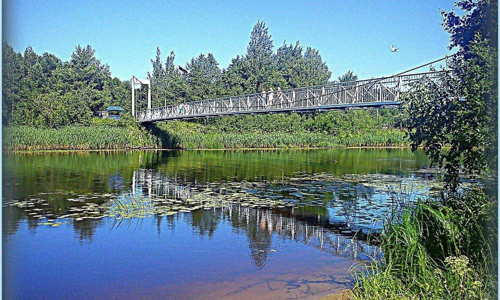 Мост Кротова через реку Коваш, по дороге на городской пляж