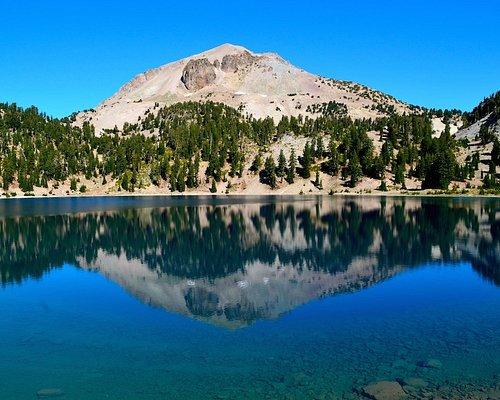 Mt. Lassen reflected in Helen Lake