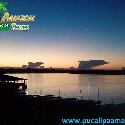 los encantos de un atardecer en la laguna de YARINACOCHA visita nuestra selva encantadora PUCALL