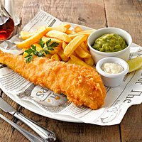 perfectly cooked fish and chips