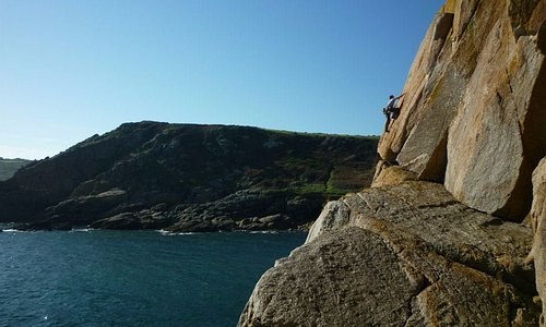 Exploring the sea-cliffs of West Cornwall