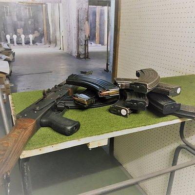 AK-47 shooting in our Belgrade indoor shooting range