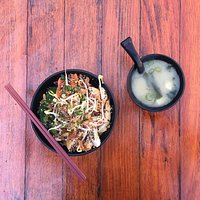 Chicken Teriyaki lunch special with Miso Soup. We are open for lunch Wed - Sunday.