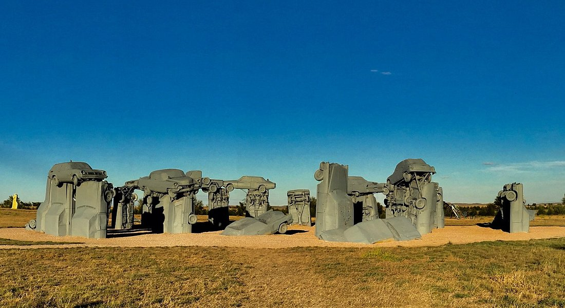 Carhenge is a replica of Stonehenge.Created from Vintage automobiles.