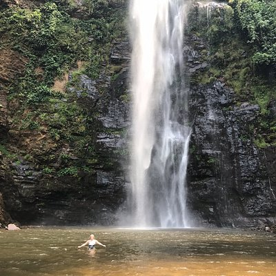 Swimming in the lower falls