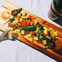 Verduras salteadas con mermeladas