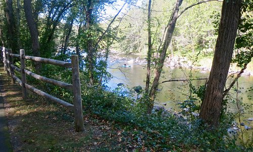 View of Farmington River from trail