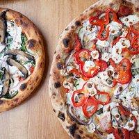 Siciliana and Bosco Pizza