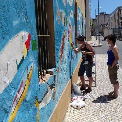 Mural das sardinhas