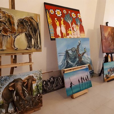 Visit and explore the amazing art gallery @ Diana Souvenirs, Negombo.